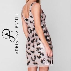 NEW Adrianna Papell dress sequin embelished mini